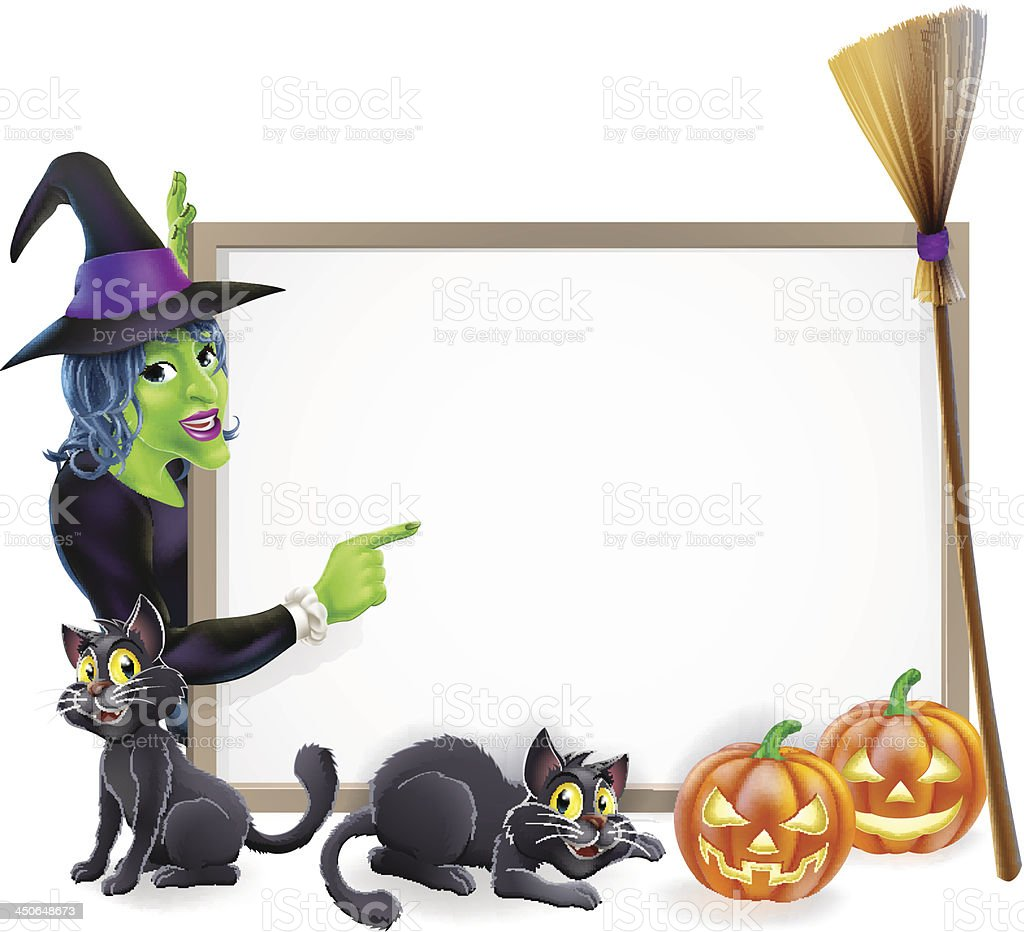 Halloween witch background sign royalty-free stock vector art