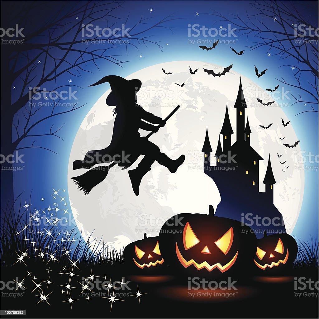 Halloween Witch Children royalty-free stock vector art