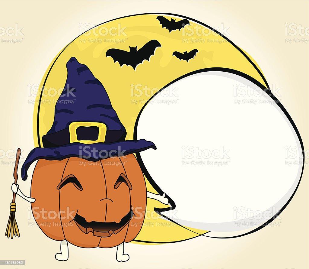 Halloween Witch Jack o' Lantern vector art illustration
