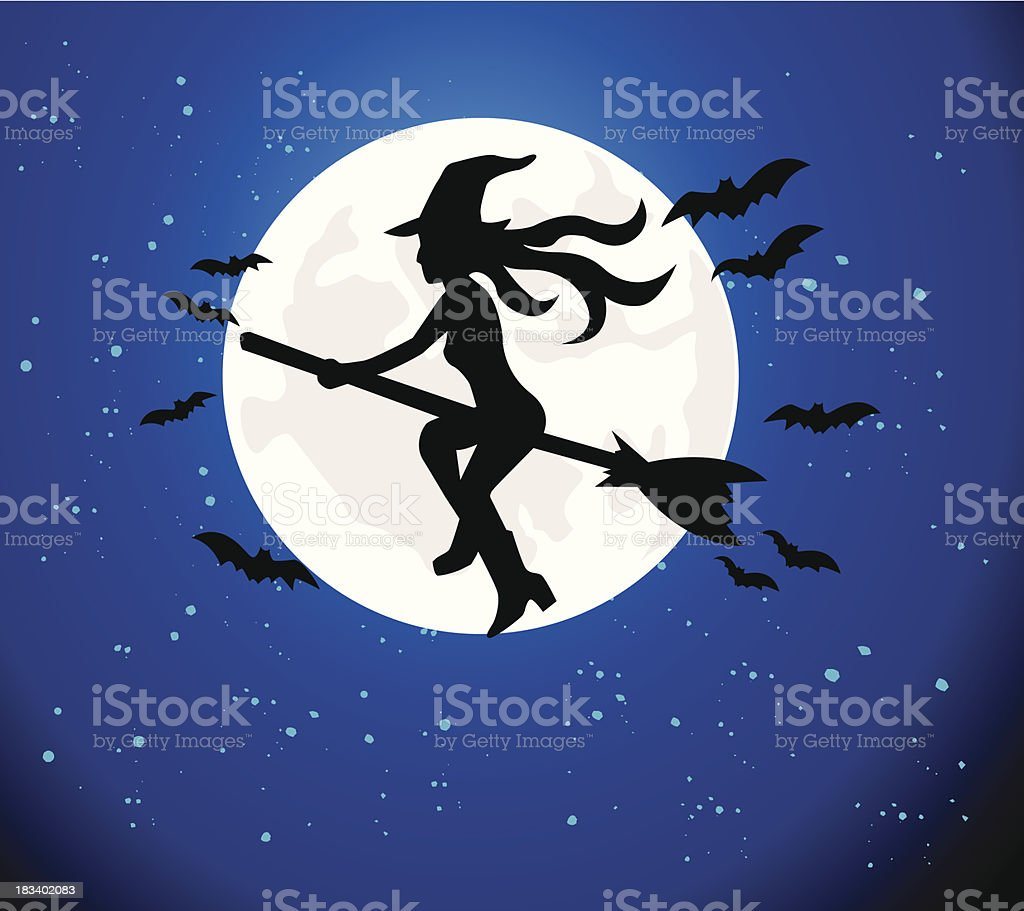 Halloween witch royalty-free stock vector art