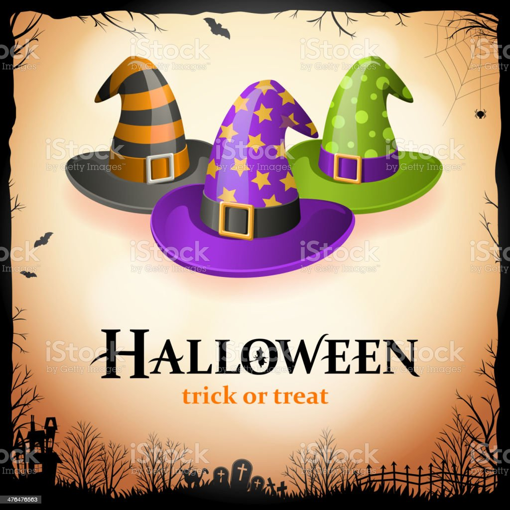 Halloween Witches Party vector art illustration
