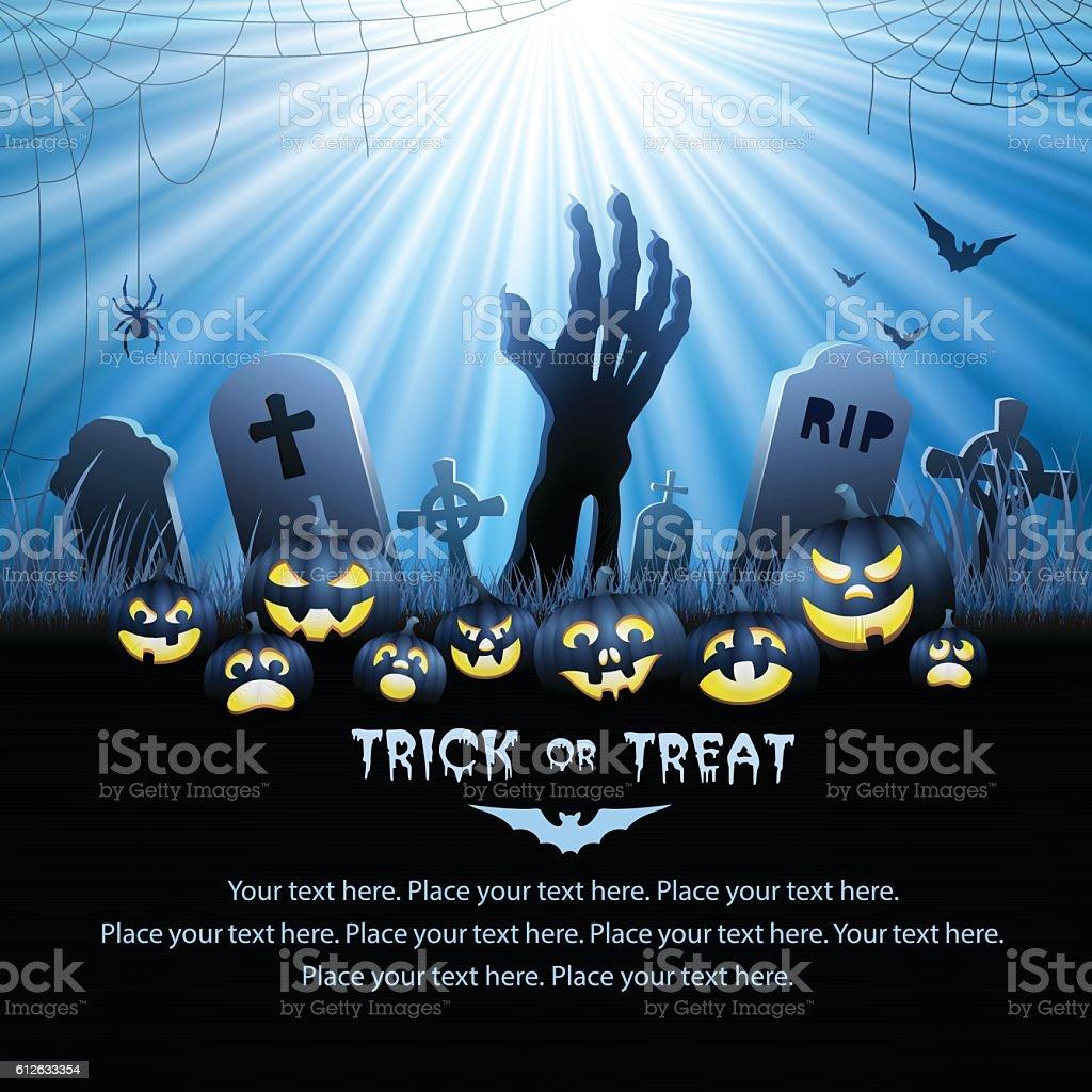 Halloween Zombie's Hand vector art illustration