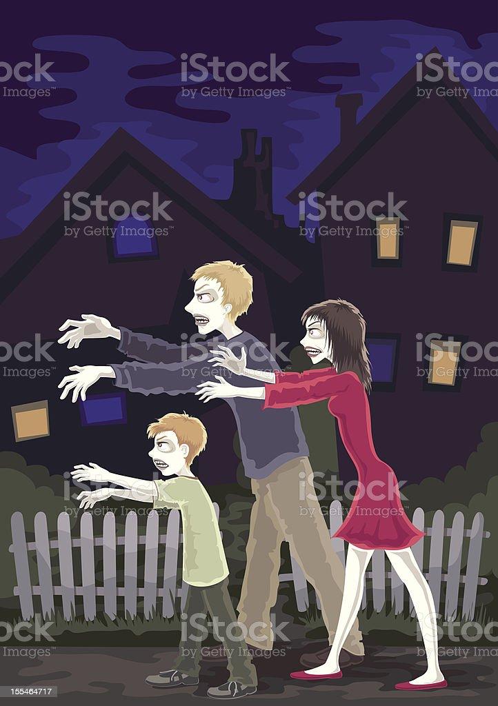 halloween zombies royalty-free stock vector art