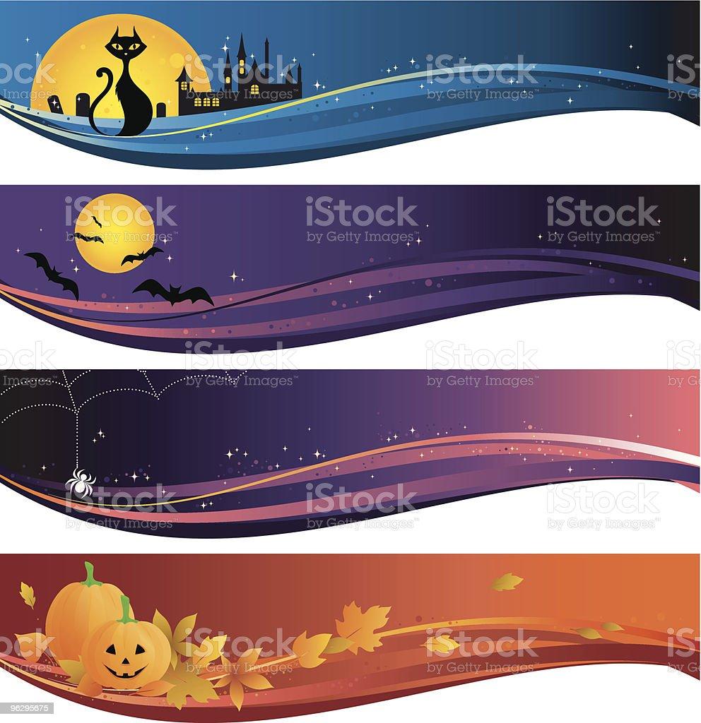halloween_banner royalty-free stock vector art