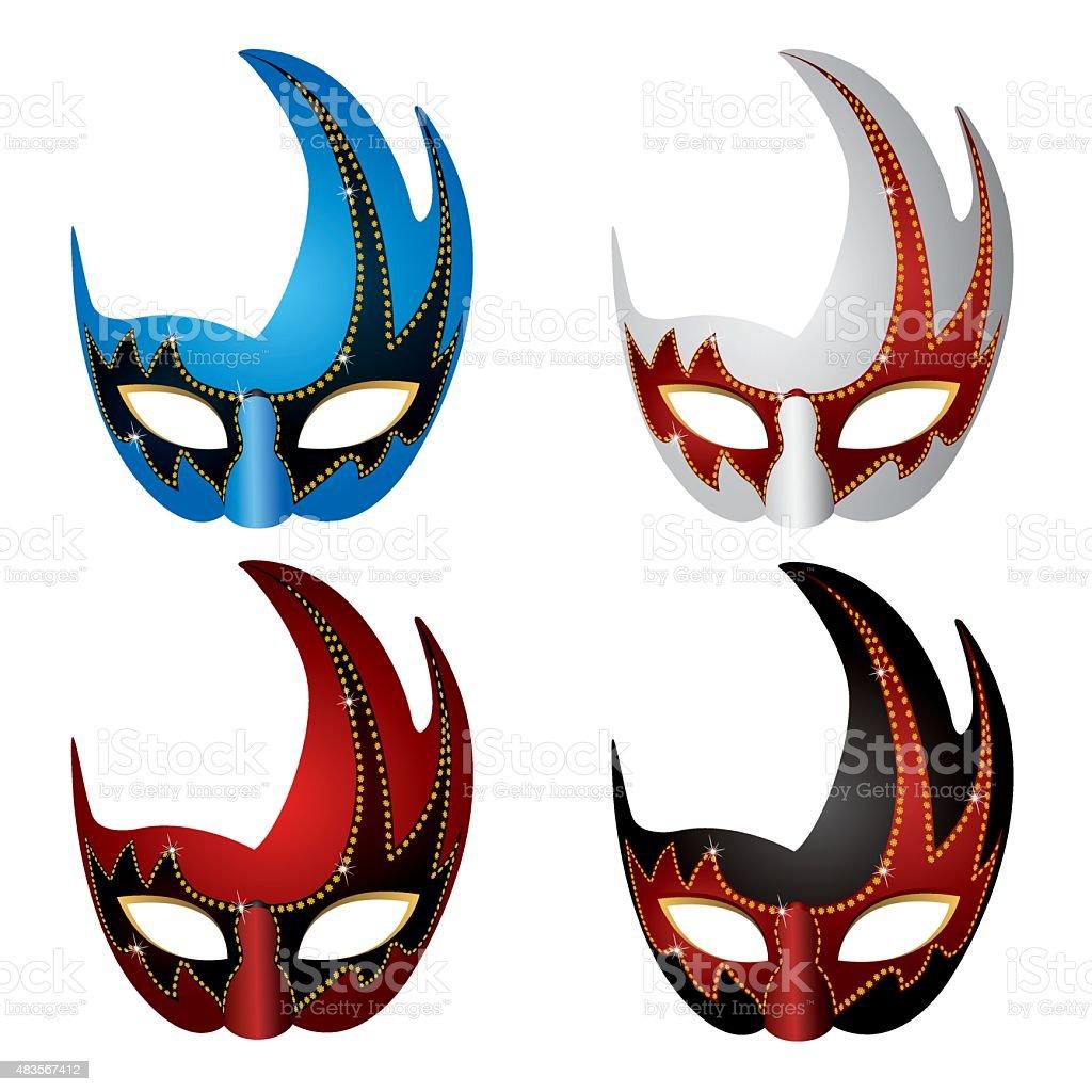 Halloween-mask-illust vector art illustration