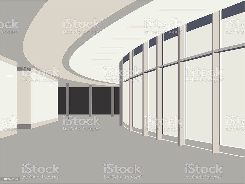 Hallway royalty-free stock vector art
