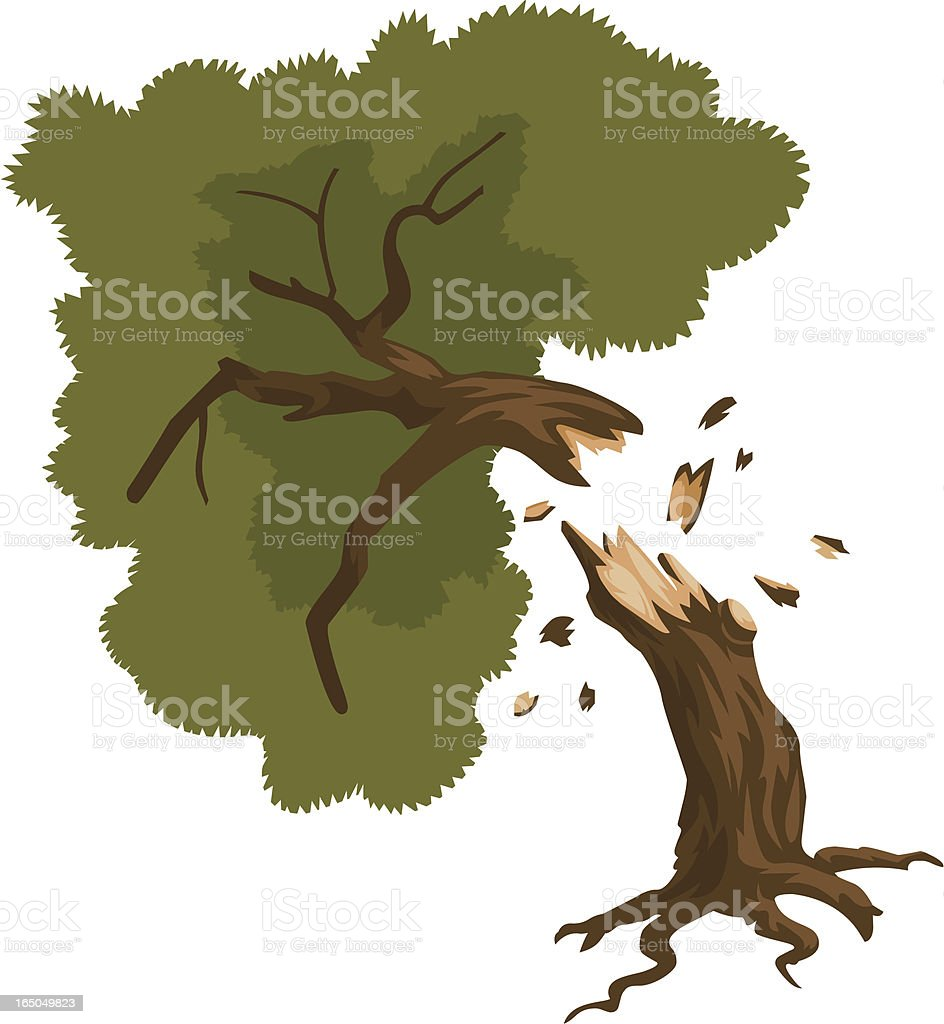 Halved Tree royalty-free stock vector art