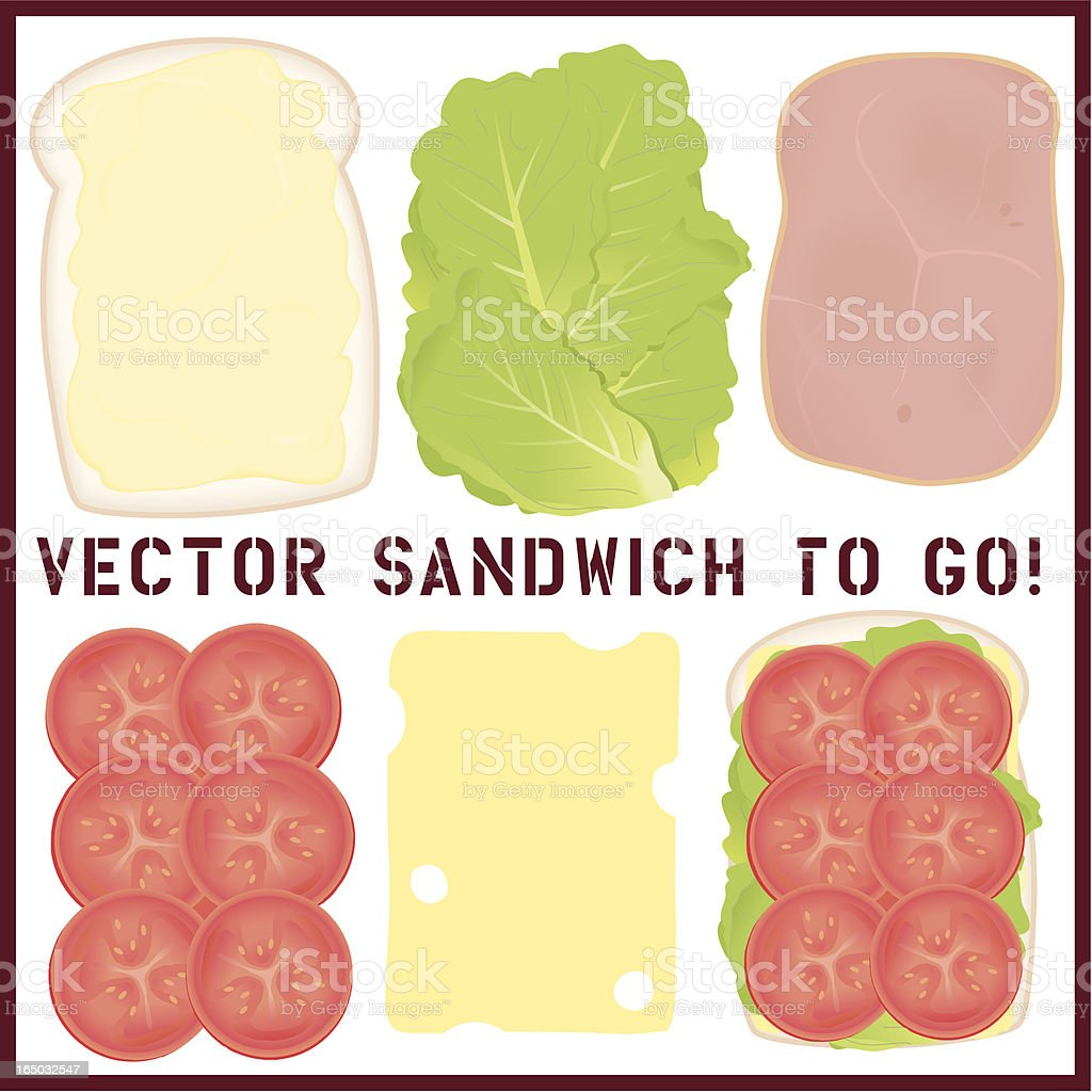 Ham Salad Sandwich royalty-free stock vector art
