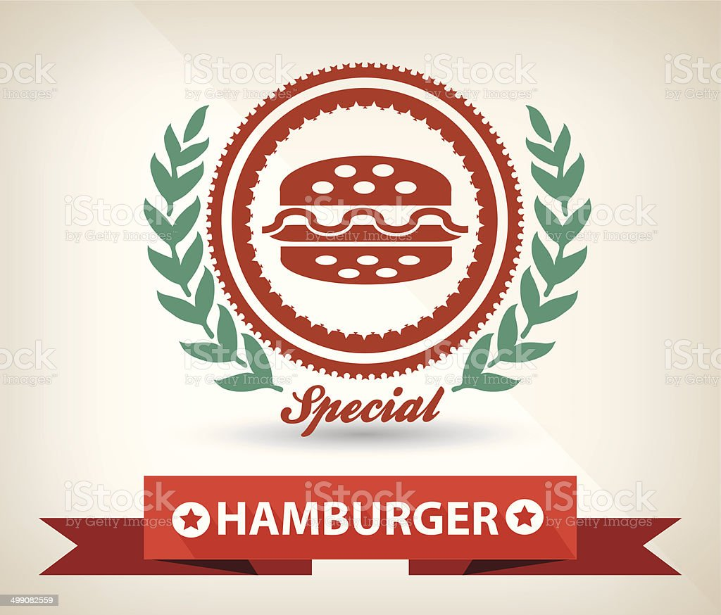 Hamburger badge,vector vector art illustration
