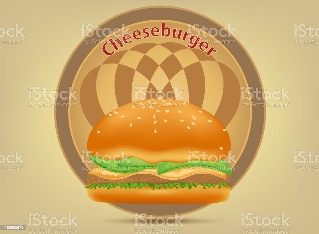Hamburger fast food label royalty-free stock vector art