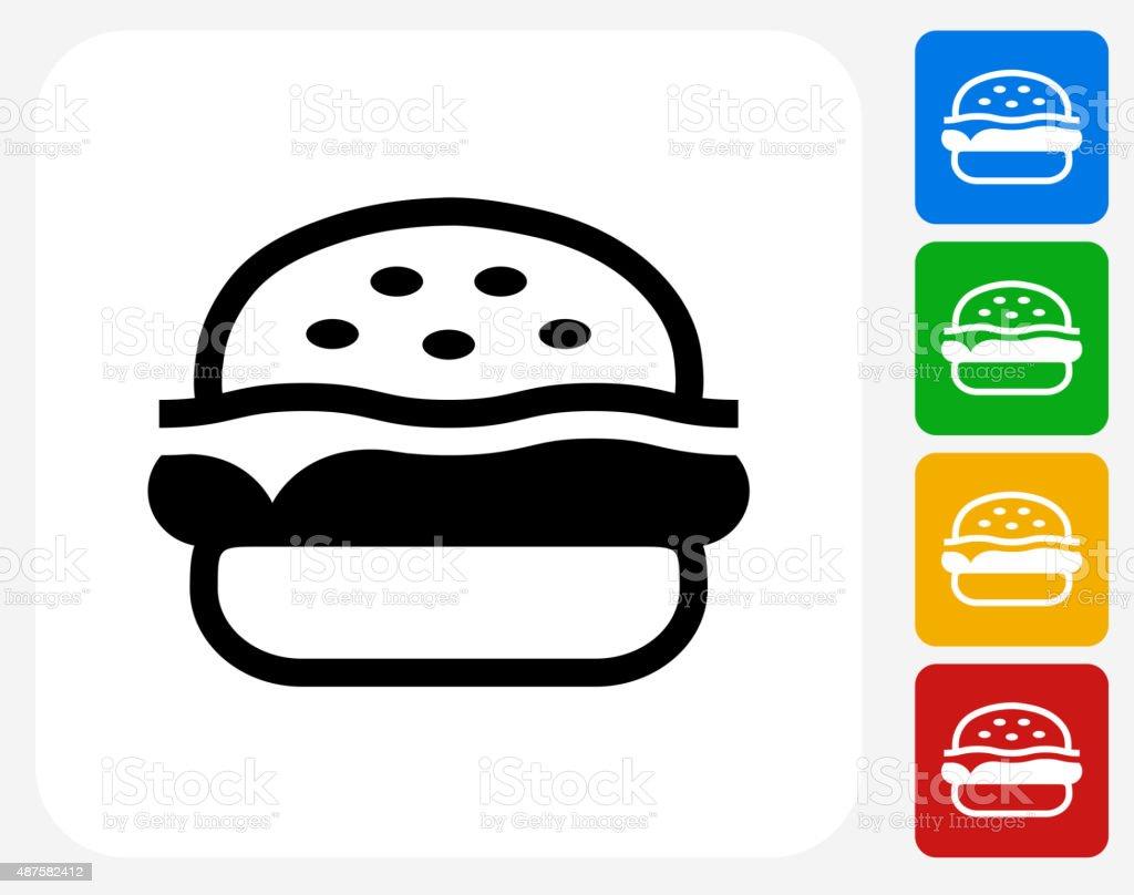 Hamburger Icon Flat Graphic Design vector art illustration