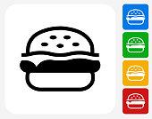 Hamburger Icon Flat Graphic Design