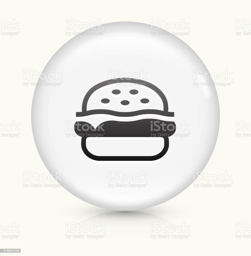 Hamburger icon on white round vector button vector art illustration