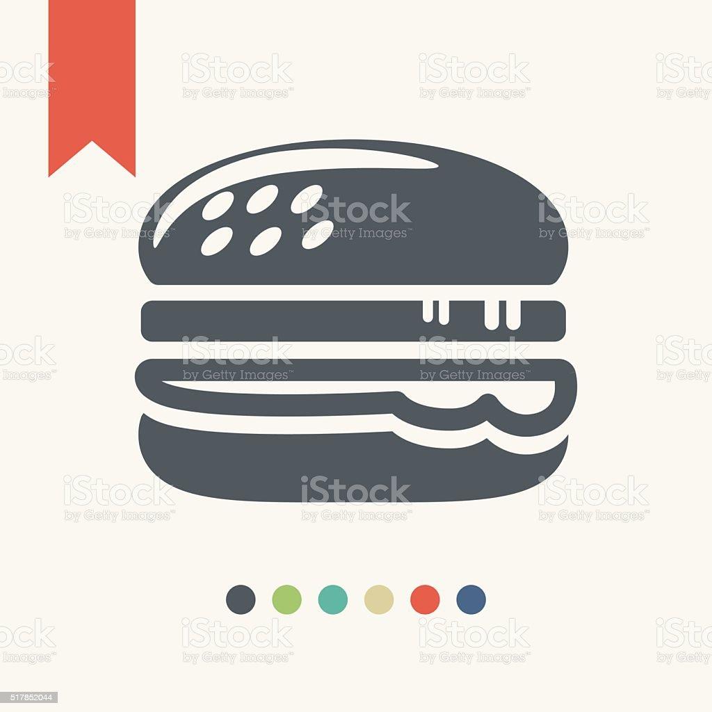 Hamburger icon vector art illustration
