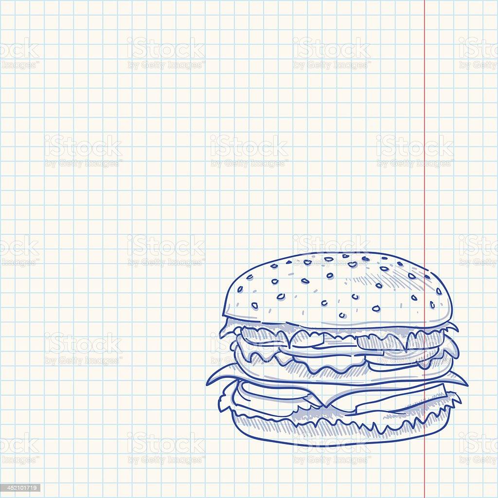 Hamburger Sketch royalty-free stock vector art