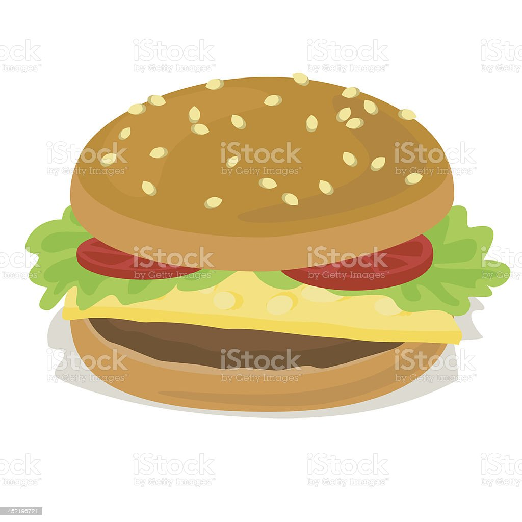 hamburger royalty-free stock vector art