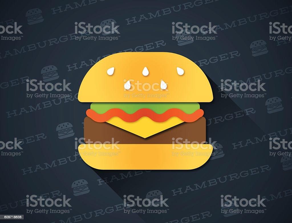 Hamburger vector art illustration