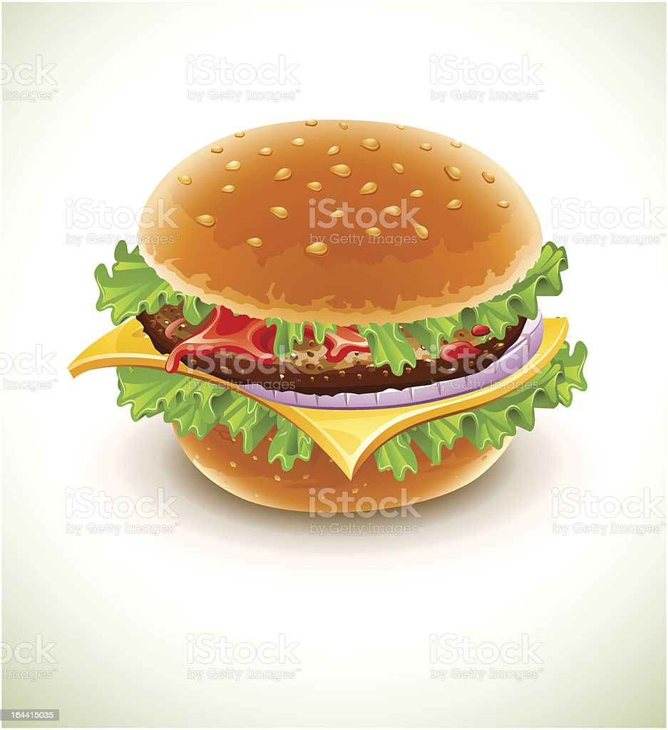hamburger with cheese royalty-free stock vector art