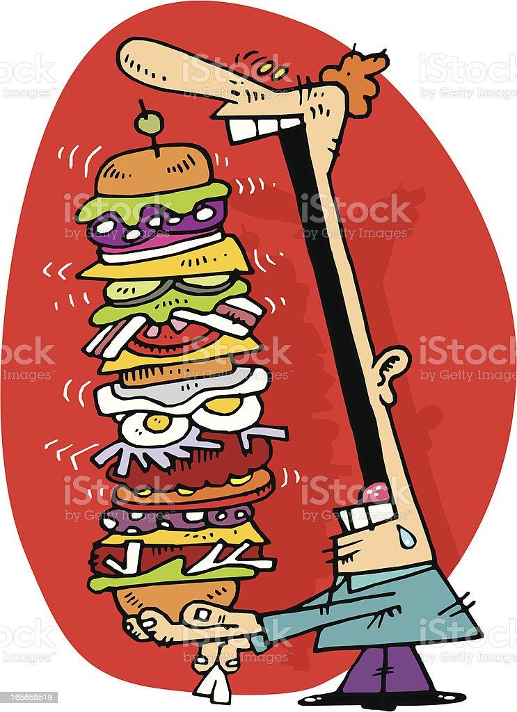 hamburguesa gigante!! vector art illustration