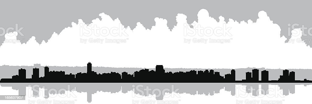 Hamilton Skyline royalty-free stock vector art
