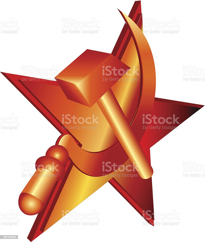 Hammer and sickle royalty-free stock vector art