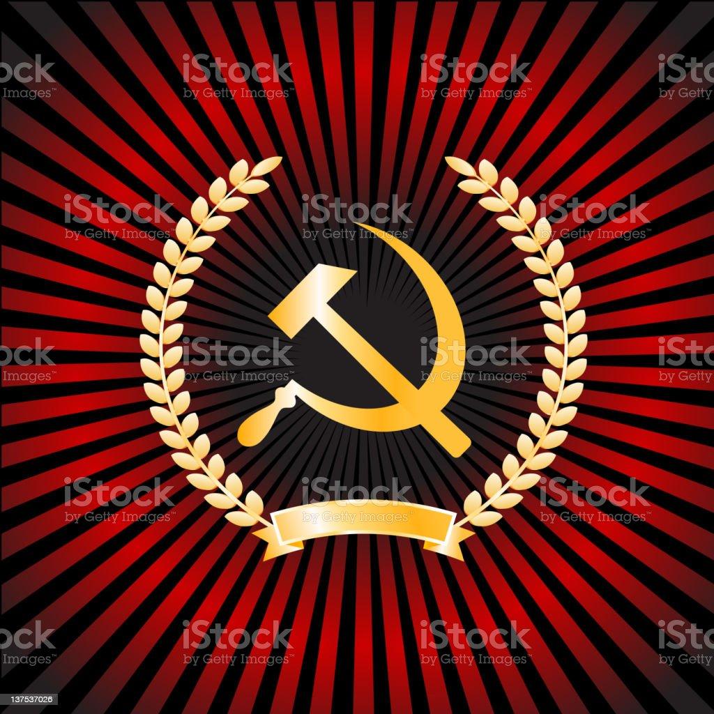 Hammer and Sickle:Communist symbol vector art illustration