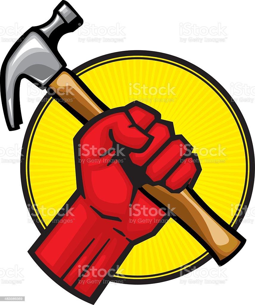 hammer grab royalty-free stock vector art