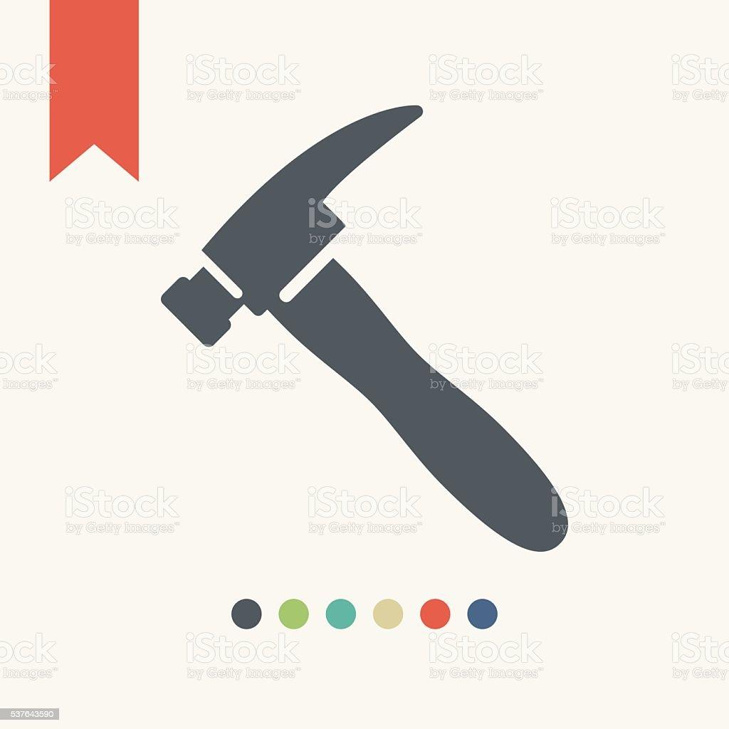 Hammer icon vector art illustration