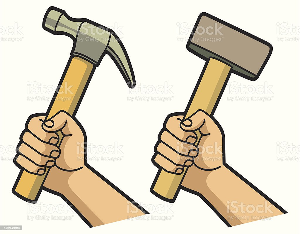 Hammer in Hand royalty-free stock vector art