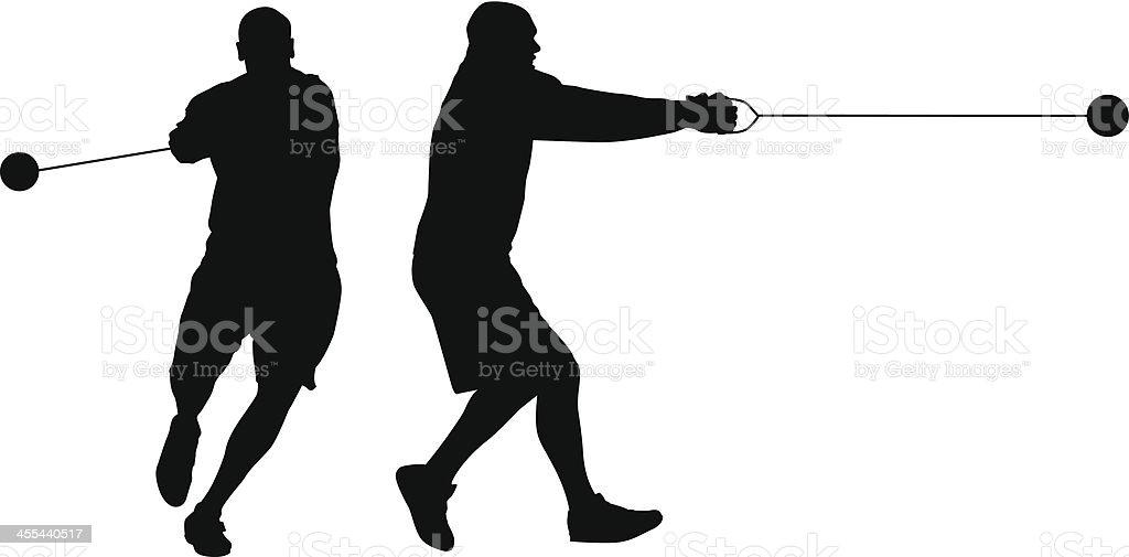 Hammer Throw vector art illustration