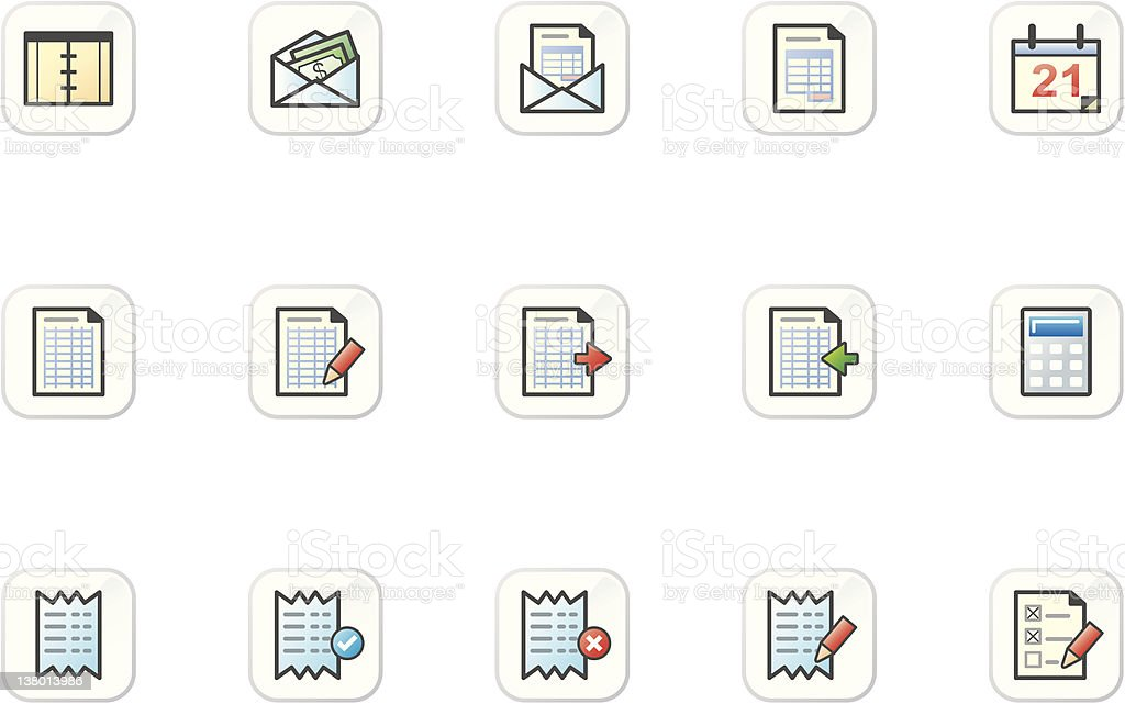 Hamoni Icon Set - Audit & Accounting royalty-free stock vector art