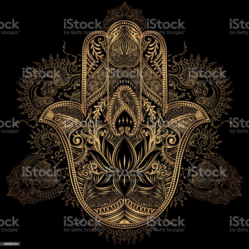 Hamsa Hand of Fatima vector art illustration