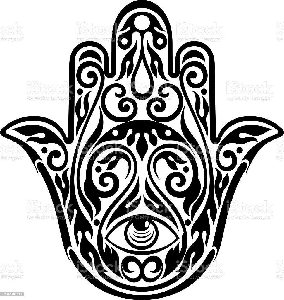 Hamsa Hand of Fatima vector art illustration