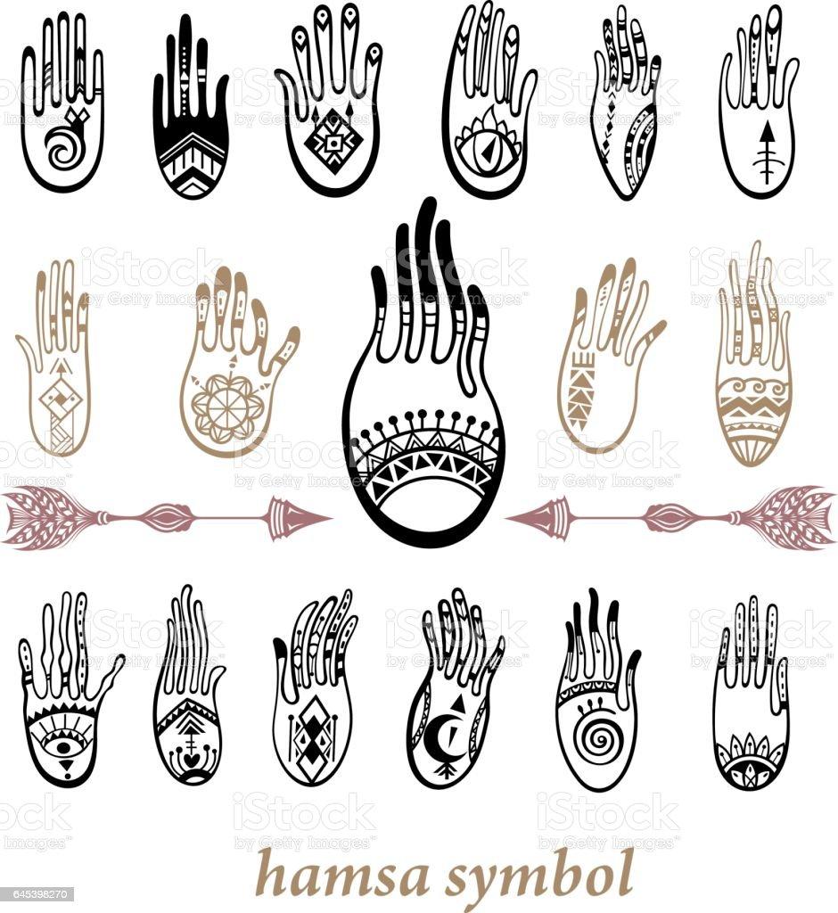 Hamsa vector art illustration