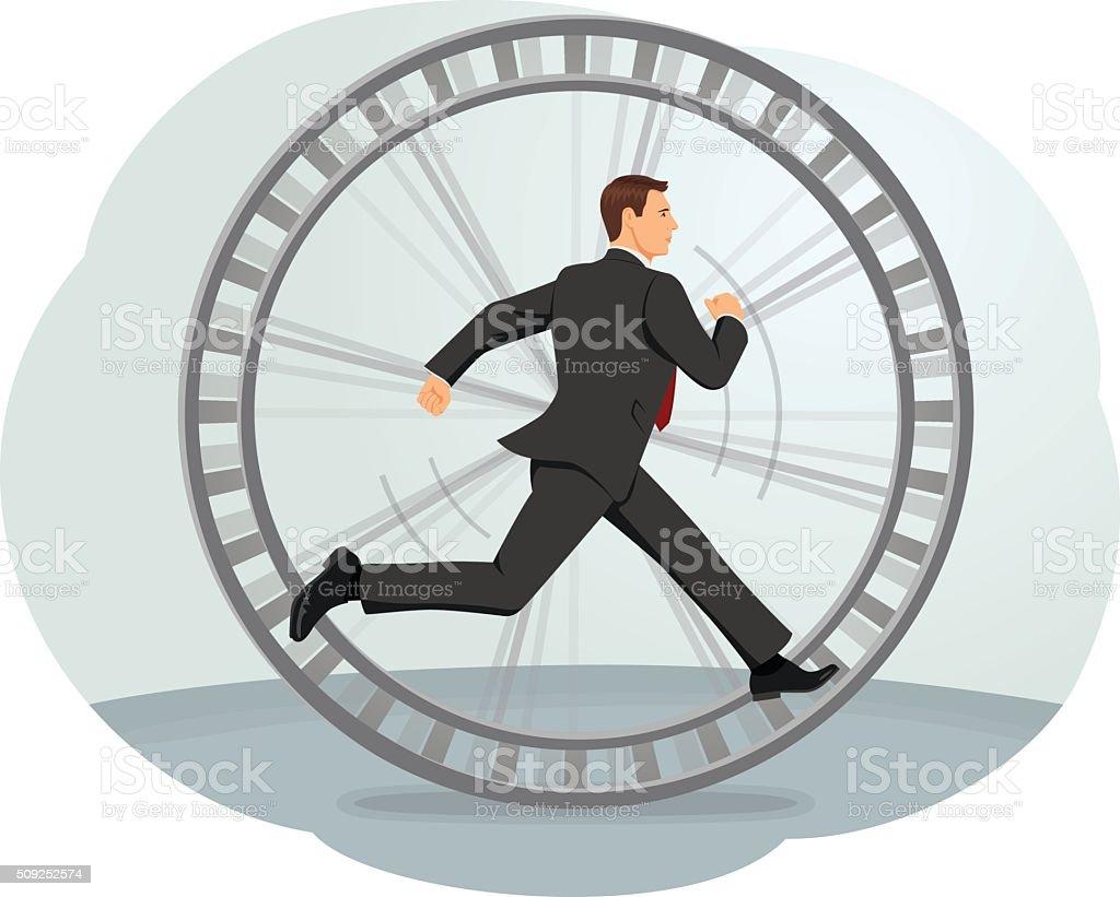 Hamster wheel vector art illustration