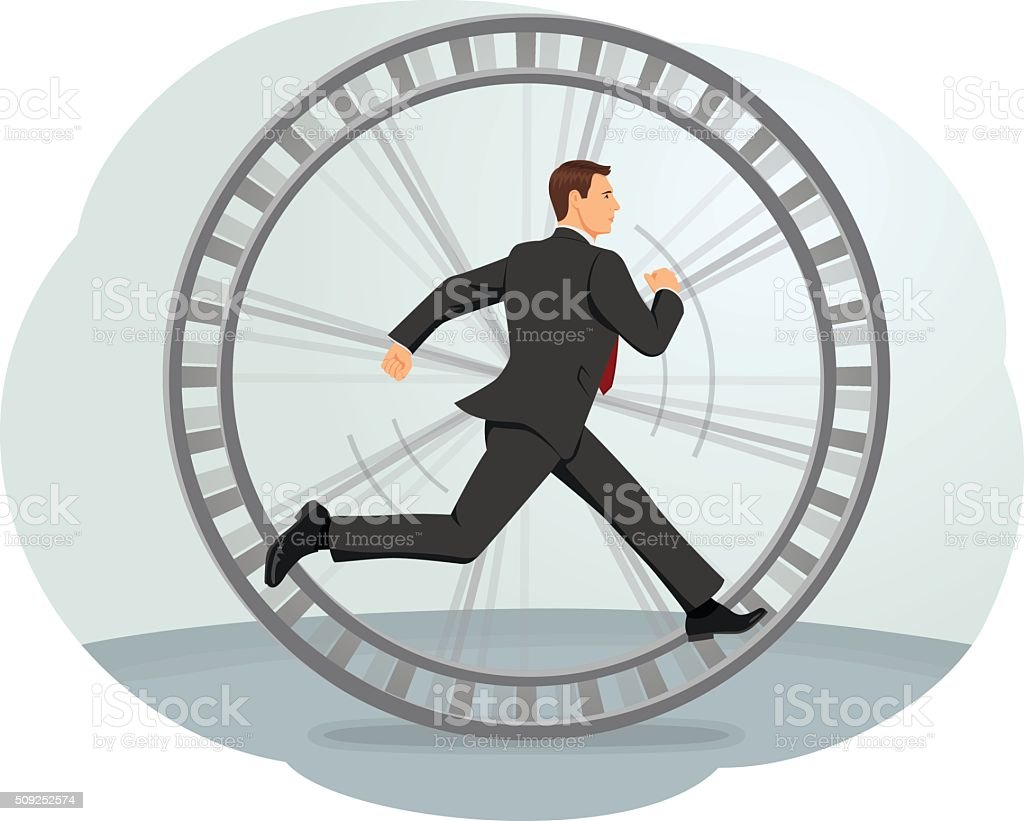 Hamster wheel vector art illustration
