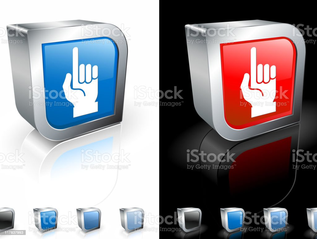 hand (one count) 3D royalty free vector art royalty-free stock vector art