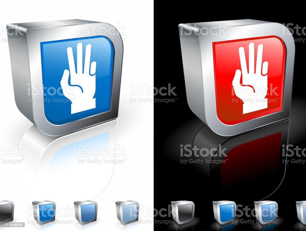 hand (three count) 3D royalty free vector art royalty-free stock vector art