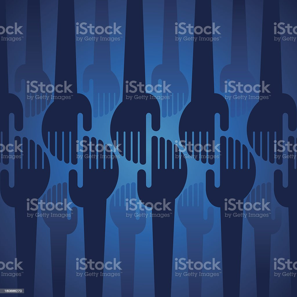 hand background royalty-free stock vector art