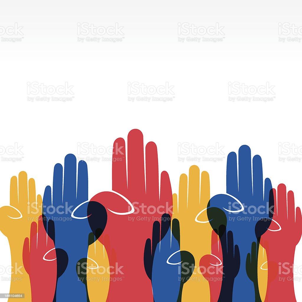 hand background vector art illustration