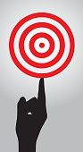 Hand Balancing Red Target