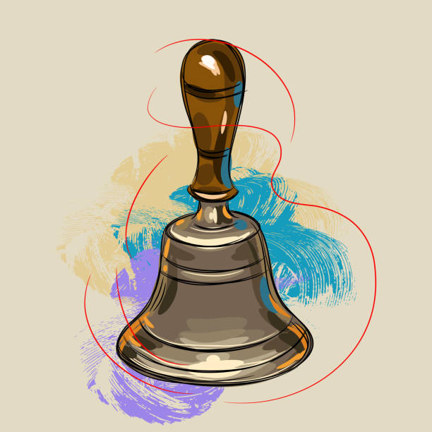 Hand Bell Clip Art, Vector Images & Illustrations - iStock