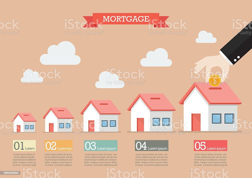 Hand collect the money in house piggy bank infographic vector art illustration