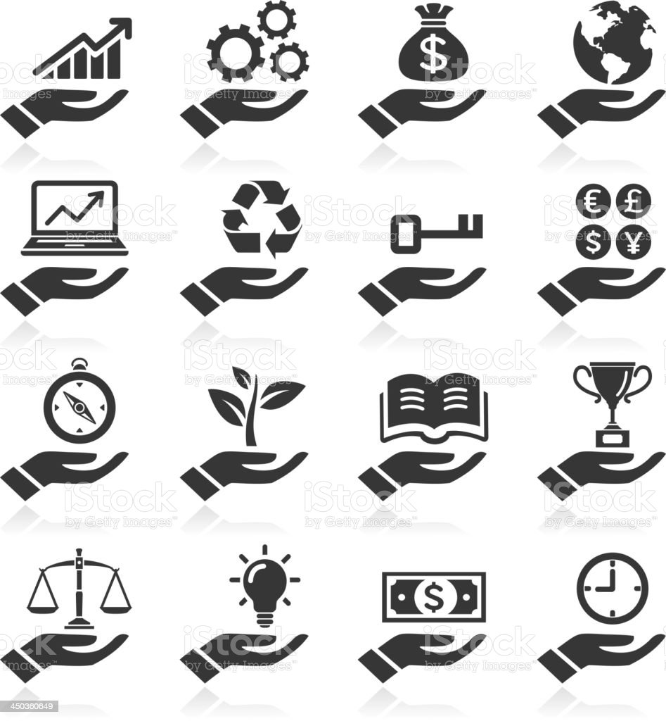 Hand concept icons. vector art illustration