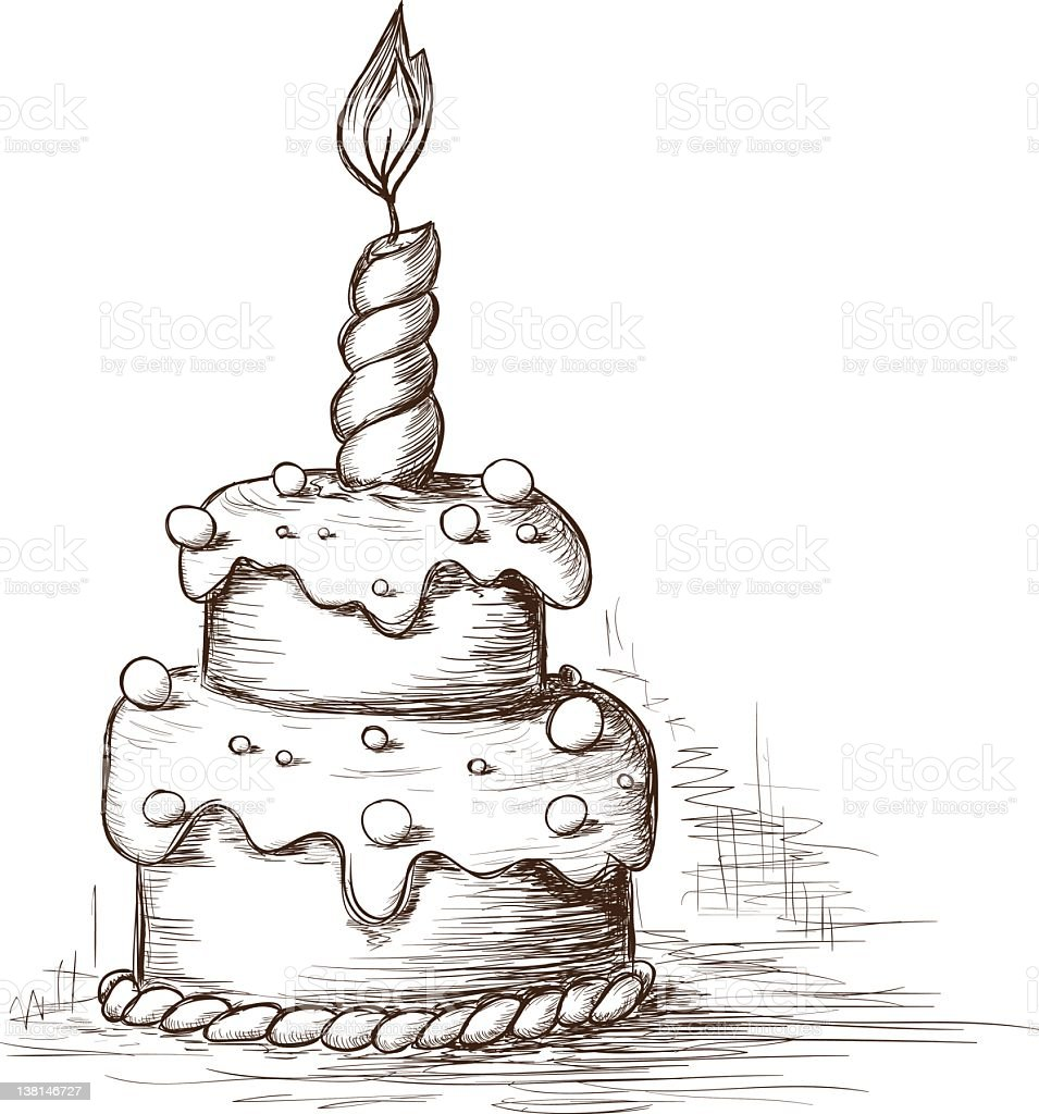 Birthday Cake Pictures To Draw