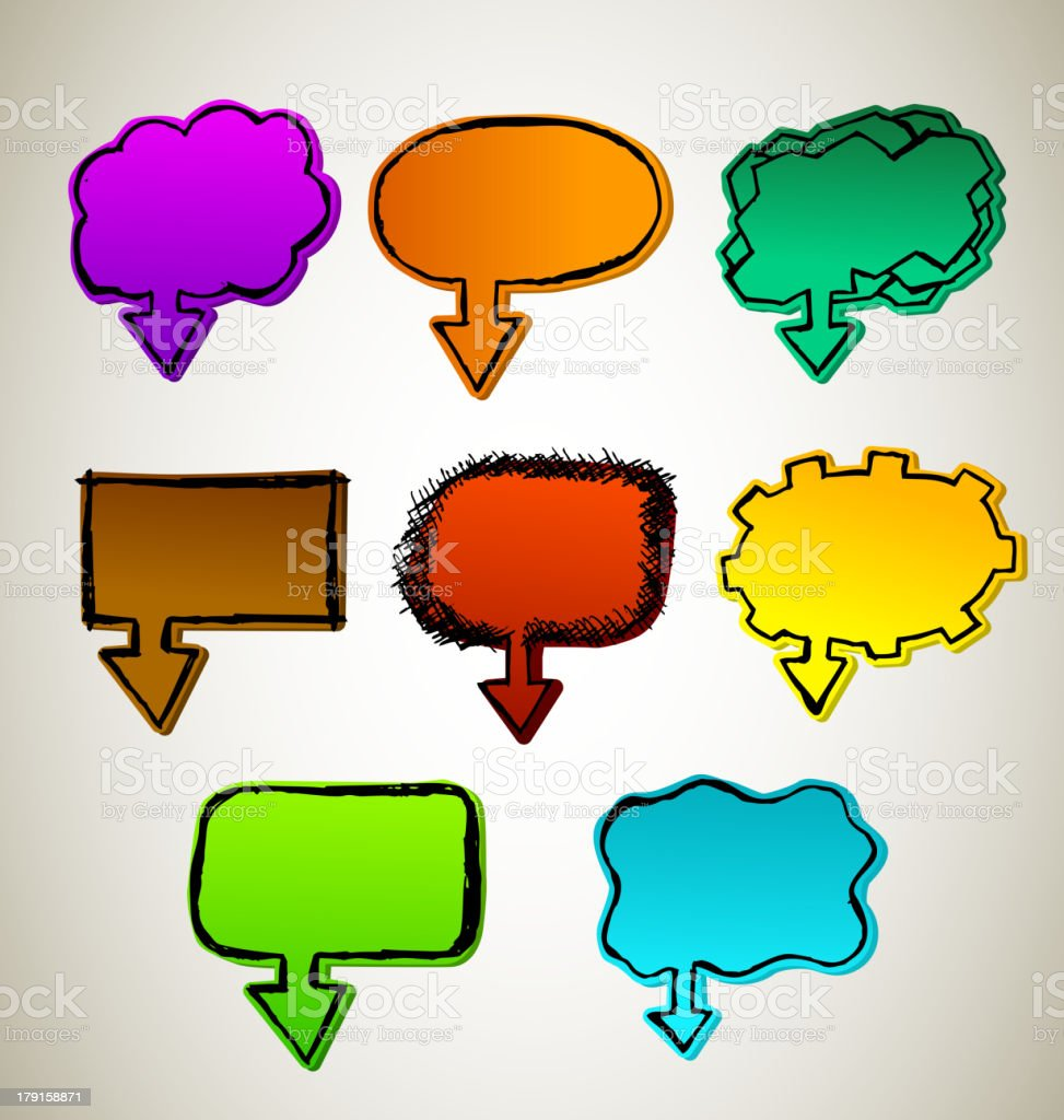 Hand Draw chat Bubbles royalty-free stock vector art