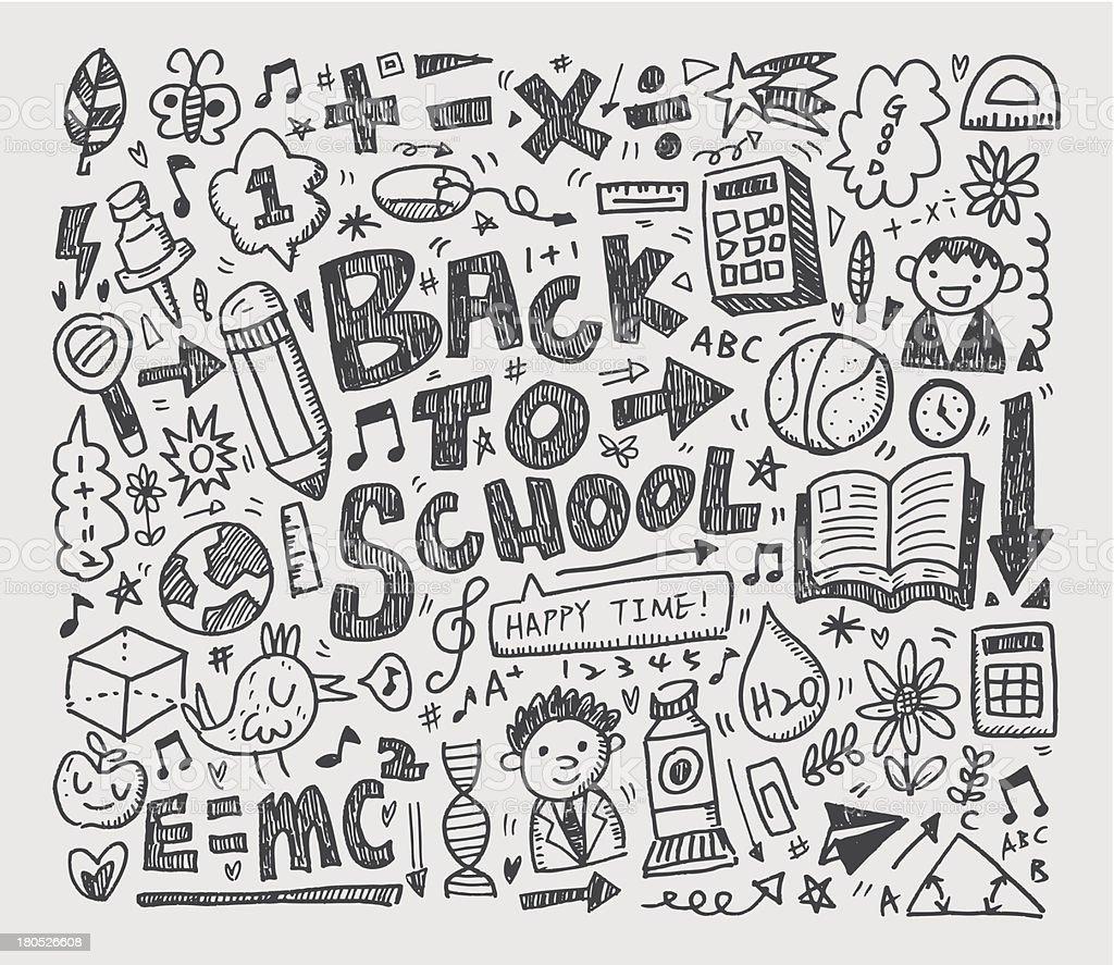 hand draw doodle school element royalty-free stock vector art