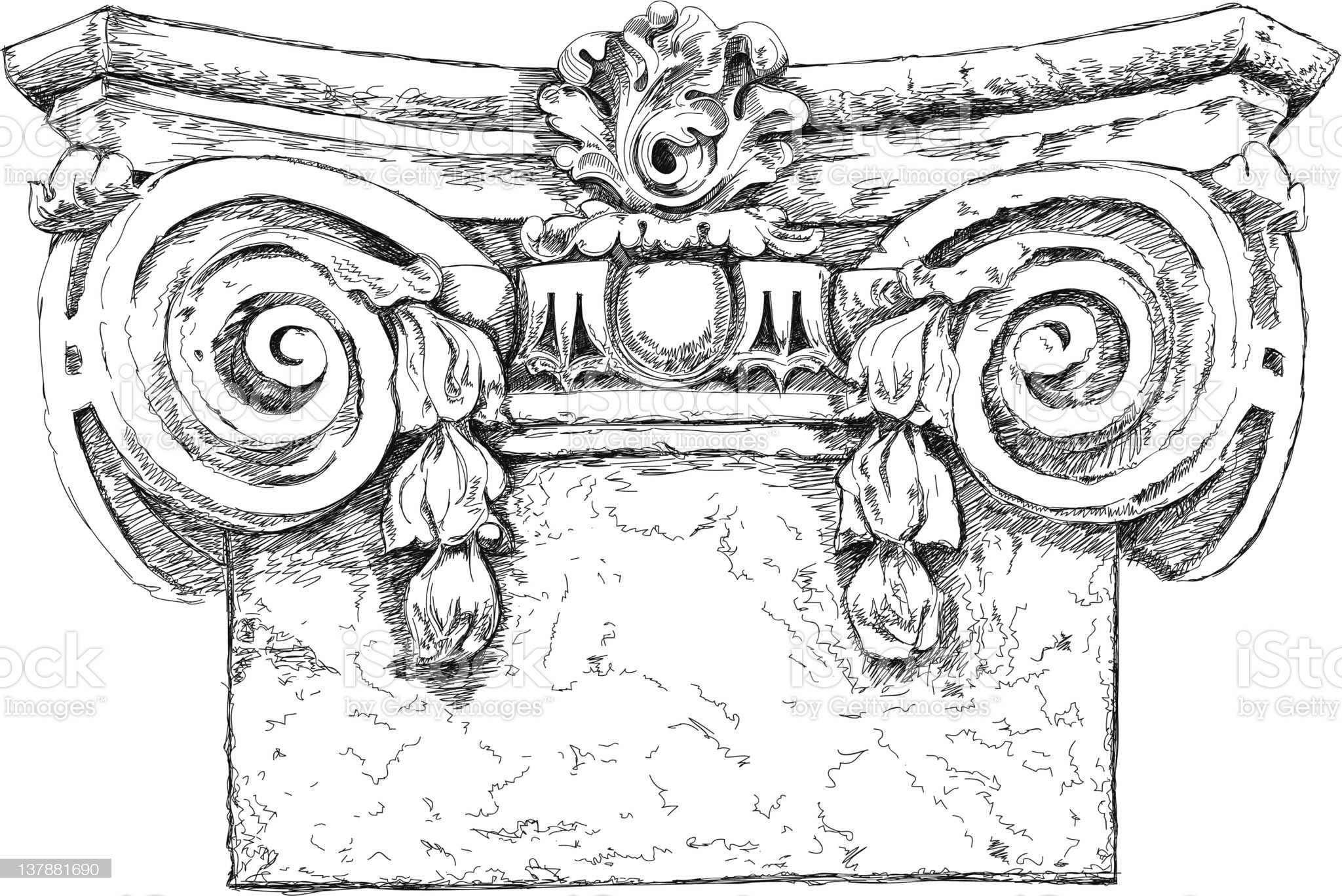 Hand draw sketch chapiter royalty-free stock vector art