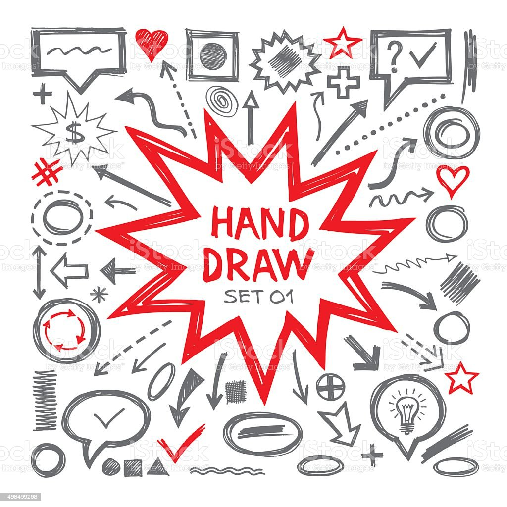 Hand draw sketch vector illustrations. vector art illustration