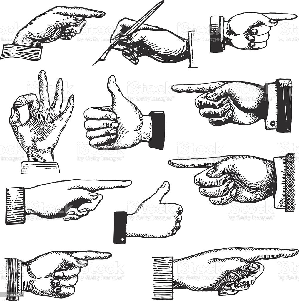 Hand Drawings vector art illustration